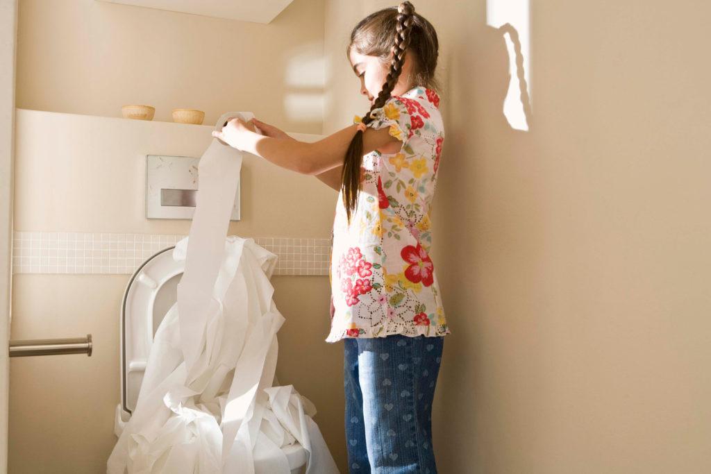 鋪滿衛生紙