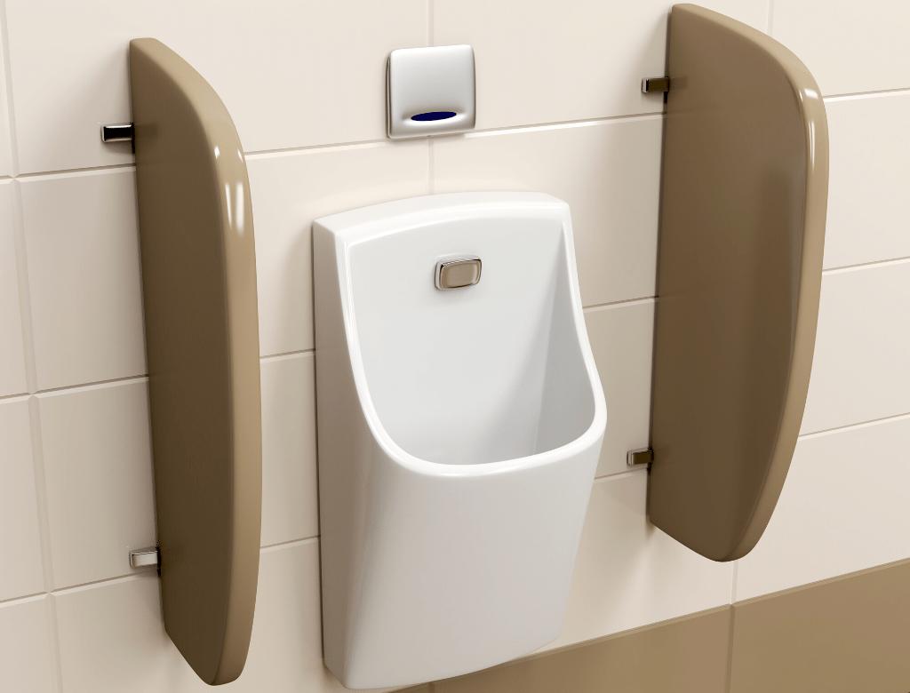 廁所搗擺選擇 小便斗搗擺隔板若設計的比較窄小,小便斗下方的地板會比較乾淨!
